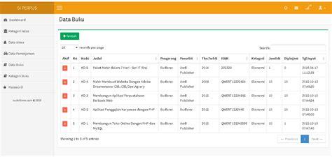 membuat sistem informasi perpustakaan berbasis web dengan php mysql aplikasi perpustakaan berbasis web php mysqli