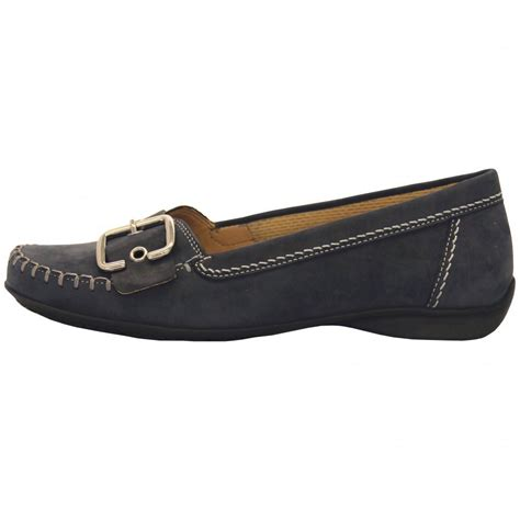 gabor comfort range gabor shoes womens wide fit shoe in blue mozimo