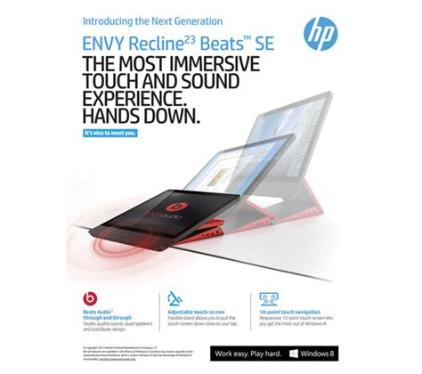 hp envy recline beats edition all in one pcs cheap all in one pcs deals currys