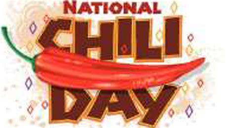 national chili day national chili day national days
