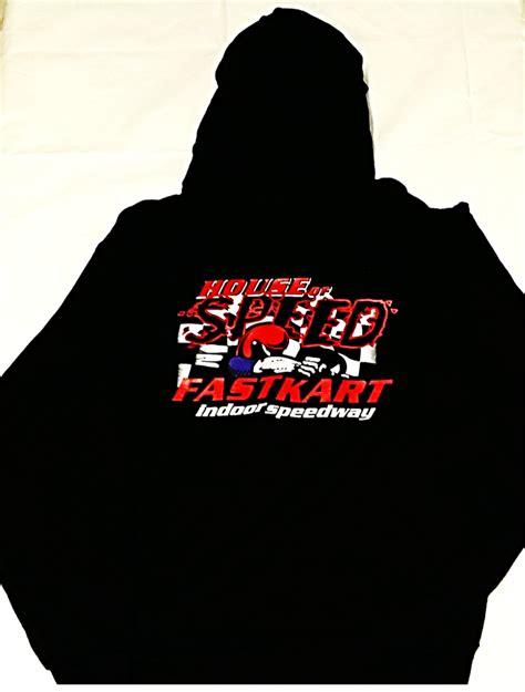 house of speed mens house of speed zipper hoodie black 171 fastkart speedway
