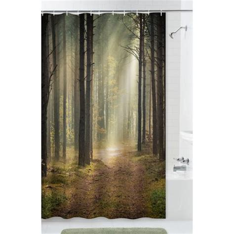 bathroom curtains walmart mainstays trailblazer fabric shower curtain walmart ca