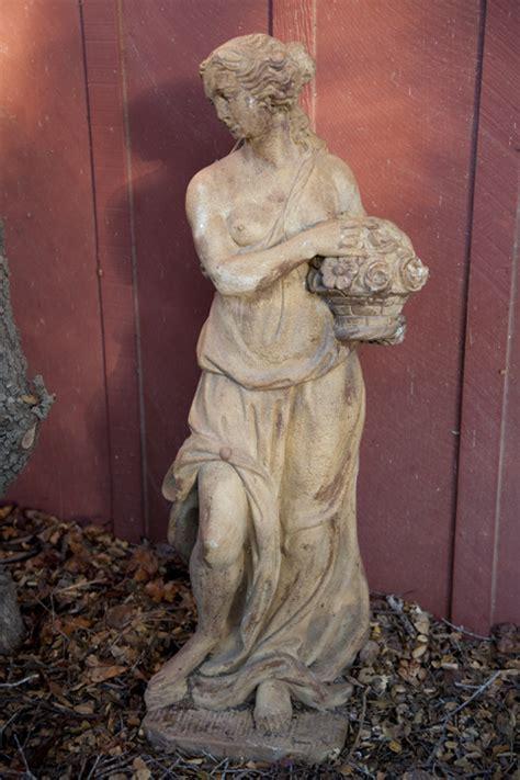 antique maiden statue   eclectibull