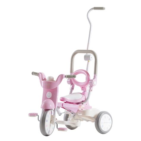 Iimo Macaron Foldable Tricycle Yellow iimo x macaron foldable tricycle trike sugar pink best educational infant toys stores singapore