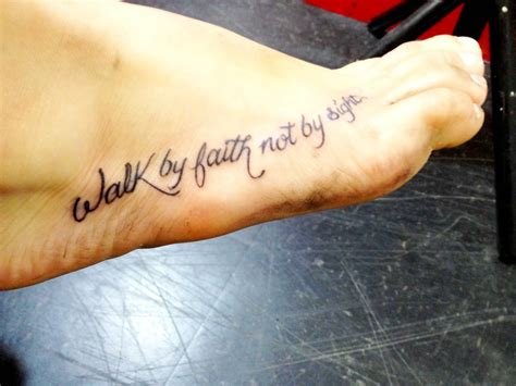 walk by faith tattoo on foot faith tattoos designs ideas and meaning tattoos for you