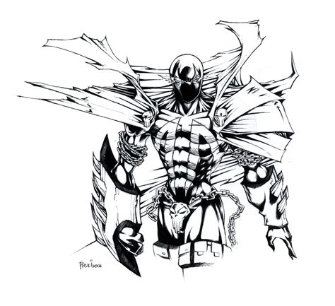 spawn coloring book coloring pages