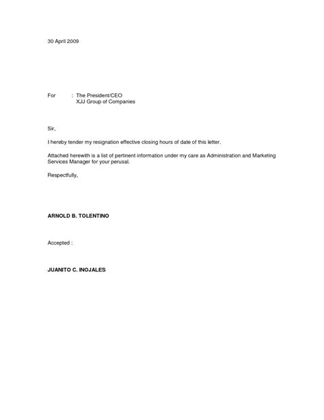 Resignation Letter For Immediate Effect resignation letter format marvelous sle immediate