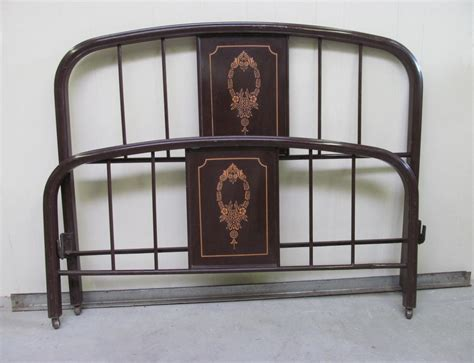 vintage bed frames vintage 1920s painted metal bed frame full by