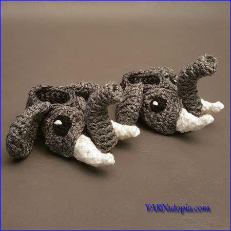 crochet pattern video tutorial by nadia crochet tutorial easy elephant baby booties 171 yarnutopia
