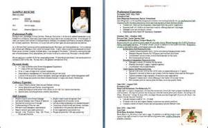 how to write a good chef resume