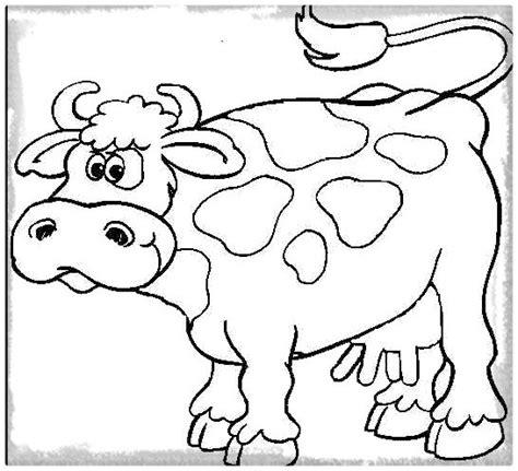 imagenes para colorear una vaca imagen linda de la vaca para colorear imagenes de vacas