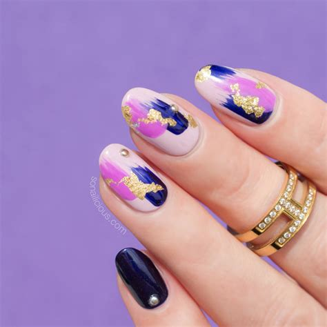 Foil Nail by 12 Brilliant Foil Nail Designs To Try This Weekend