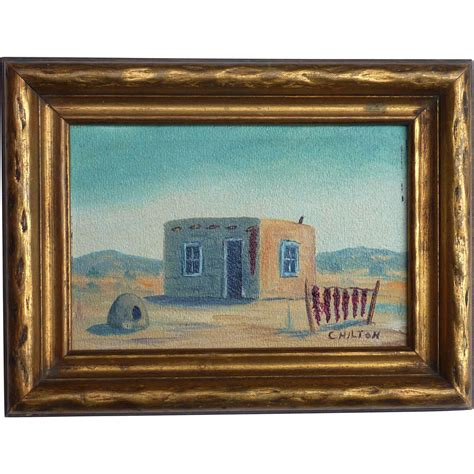 Dg Canvas Shopper by Small Southwest Taos New Mexico Painting Of Adobe