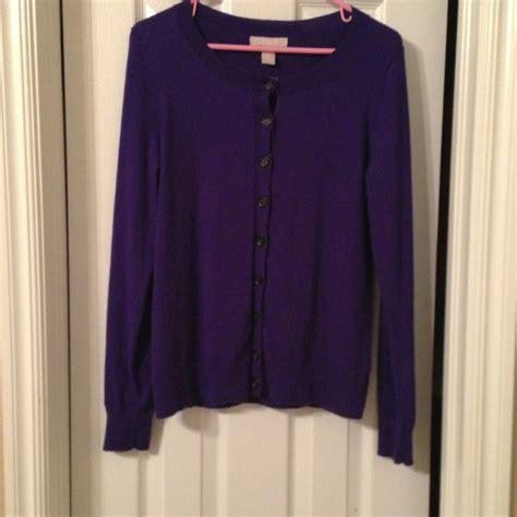 Sweaterjakethoodie Cardigan Purple Colour Wanita Banana Republic Purple Cardigan From H S Closet