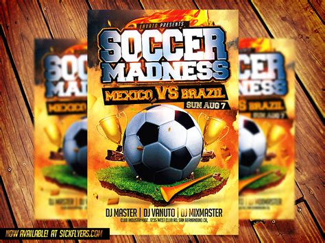 free soccer flyer template 16 free football psd photoshop templates images football