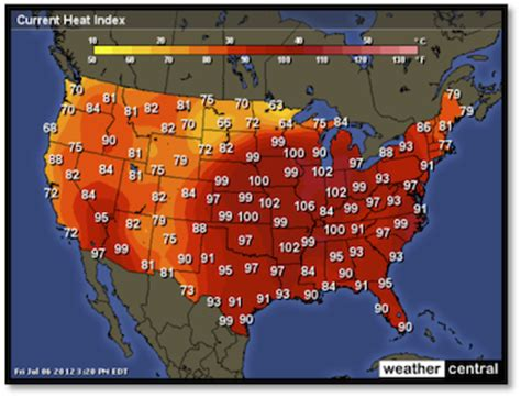 us weather map heat index how workers can beat the heat