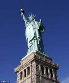statue of liberty arm with torch statue of liberty celebrates 125th birthday in style then