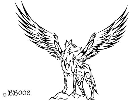 tribal wolf coloring page tribal winged wolf a pinterest wolf tattoo and wolf