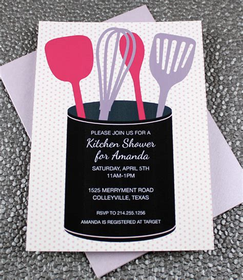 Kitchen Invitation Cards Templates by Bridal Shower Invitations Kitchen Bridal Shower