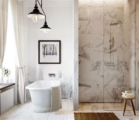 Marble Bathroom Showers 30 Marble Bathroom Design Ideas Styling Up Your Daily Rituals Freshome