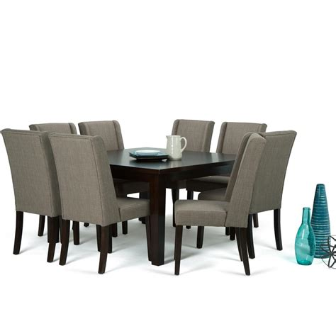 simpli home cosmopolitan 7 light mocha dining set simpli home sotheby 9 light mocha dining set axcds9sb lml the home depot