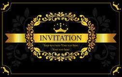 gold and black invitation card royalty free stock photography image 12712327