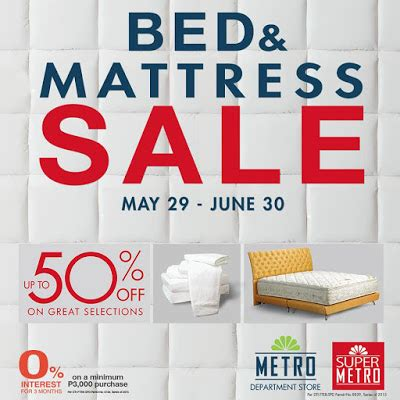 bed sale manila shopper metro bed mattress sale may june 2015