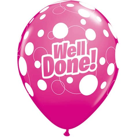 Well Done well done balloons pk6 multi coloured fever