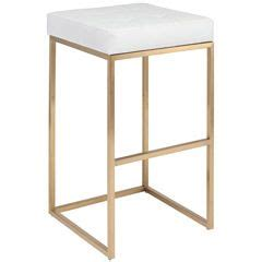 Nuevo Chi Counter Stool by Nuevo Chi White And Gold Bar Stool Nvhgmm154 Bar And