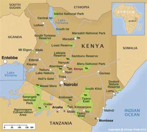 africa map kenya kenia bergen karte