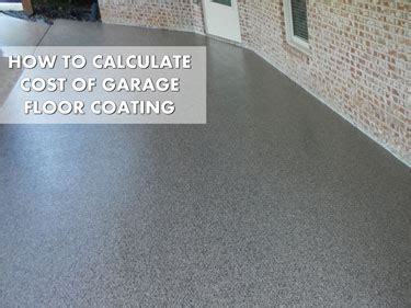 Garage Floor Coating Costs   Breaking Up The Spend