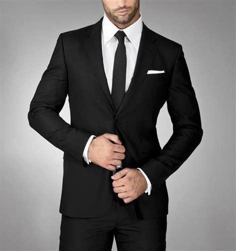 black suit black suit tie mens wear