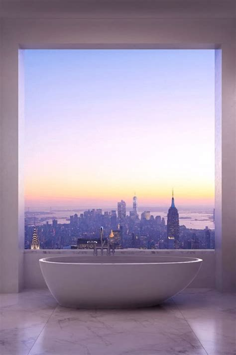 bathtub nyc cityscape fragments
