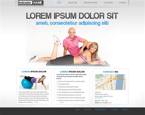 Free Fitness Web Template 29 Personal Trainer Template Phpjabbers Fitness Trainer Website Templates