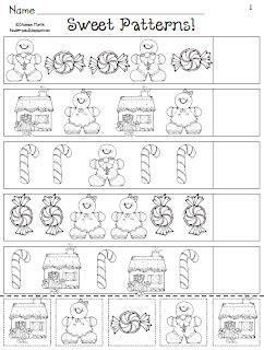 christmas pattern worksheets preschoolers ms m s blog a gingerbread kind of week