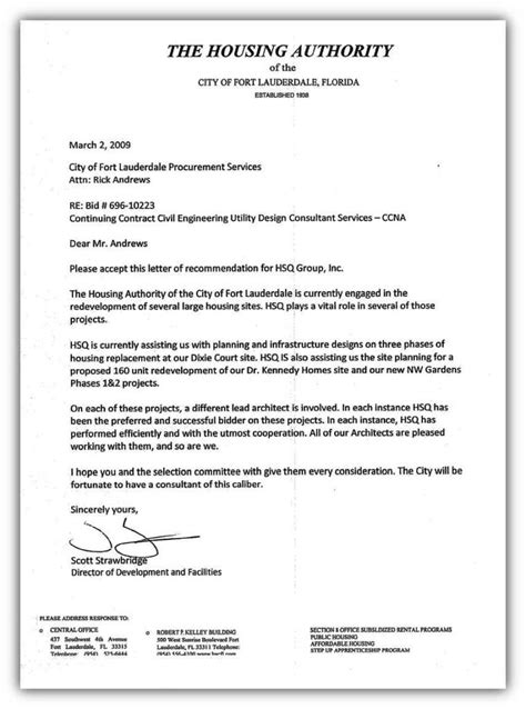 Letter For Housing Florida Consulting Firm Hsq Inc Engineering Services Government Consulting Services