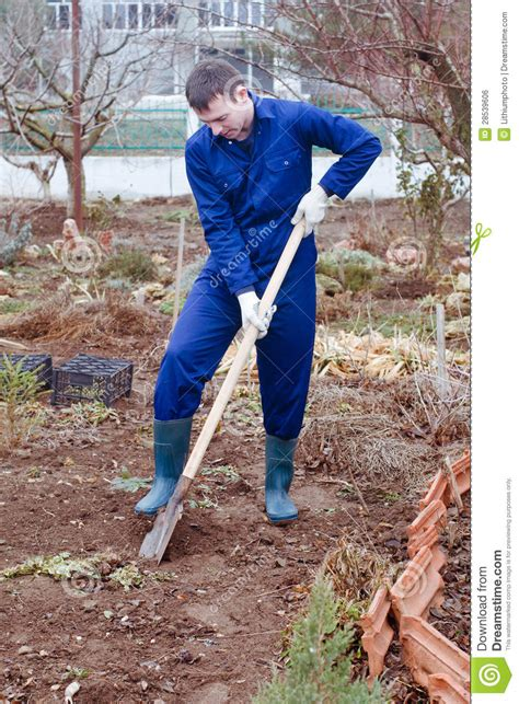 Digging On by Digging Soil Royalty Free Stock Image Image 28539606