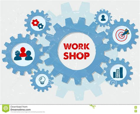 workshop layout symbols infog cartoons illustrations vector stock images 17