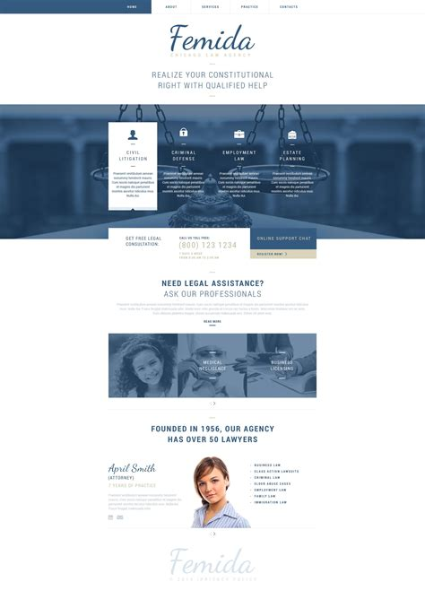 Law Firm Responsive Website Template 51827 Firm Responsive Website Template