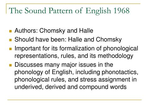 sound pattern of english noam chomsky ppt history of phonology powerpoint presentation id 197568