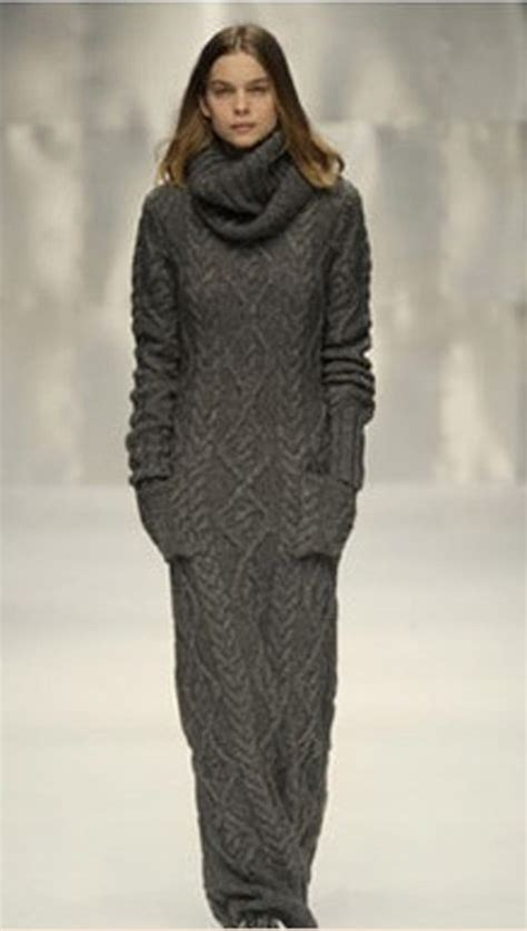 how to knit dress chunky knitted grey knit dress turtle neck