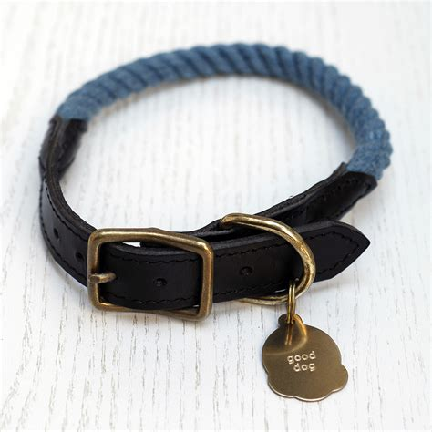 Handmade Leather Collars And Leashes - review handmade rope collars and leashes by blink