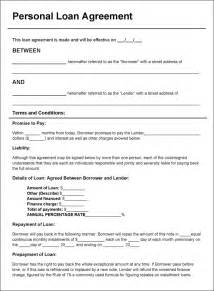 Sample Loan Agreement Contract Template free personal loan agreement doc pdf 2 page s