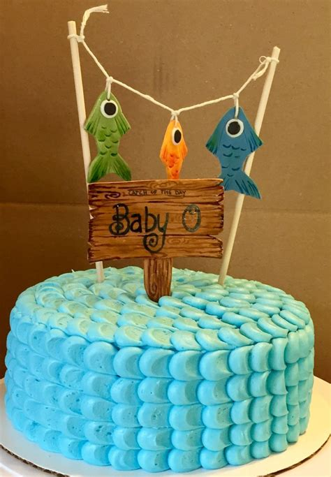 Fish Themed Baby Shower by Best 25 Fishing Theme Cake Ideas On Fishing