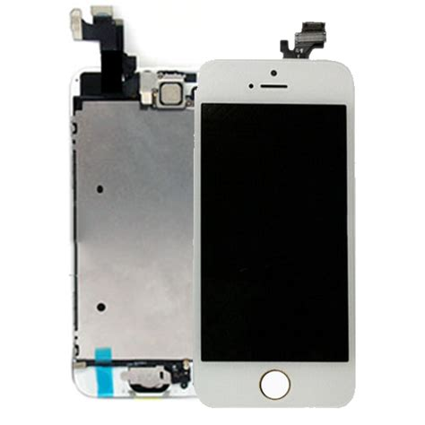 Lcd Iphone 5s iphone 5s white lcd digitizer with original small parts top supplies