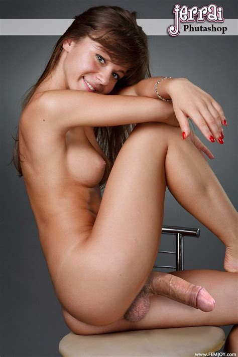 Sexy Brunette Futa Fake With A Manly Cock Vile Perversion