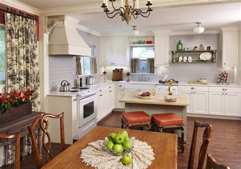 country french cottage kitchen  traditional dining