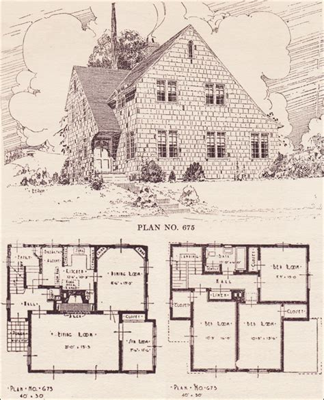 1920s English Cottage House Plans 1920 American House 1920s Cottage House Plans