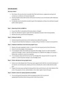information security standards template sop for security