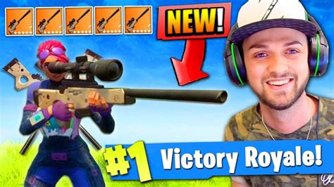 fortnite zapatron sniper new sniper only victory in fortnite battle royale